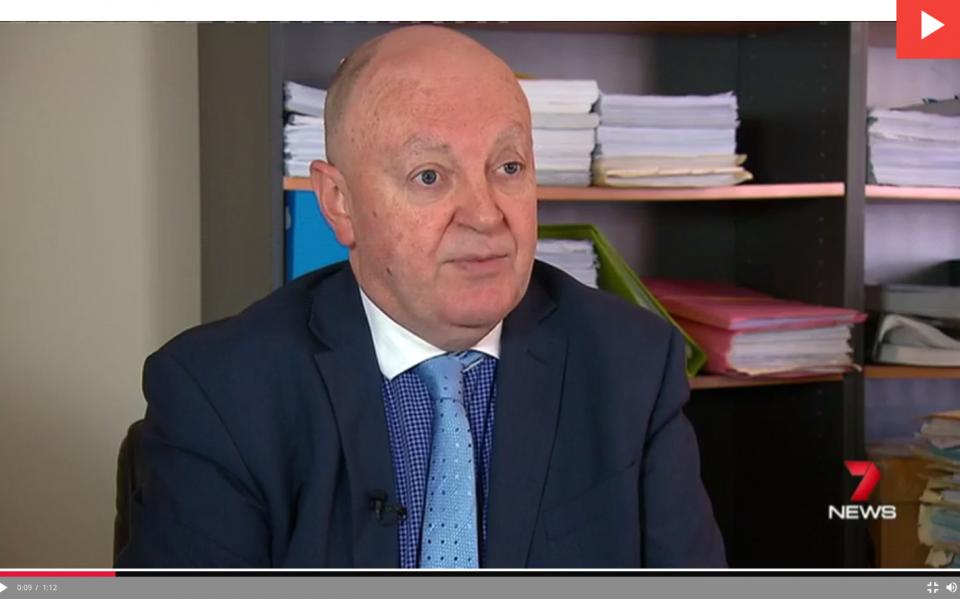 Personal injury lawyer Mal Byrne 7 News Adelaide