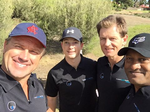 TGB PQSA Golf Day: Tony Modra, Jamie Phillips, TGB Partner Tim White and Tony Ponnen.